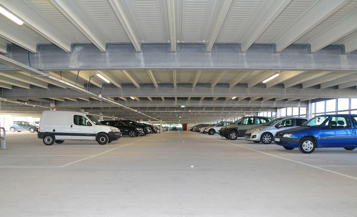 Parkhaus für Immobilienprojekt mit 350 Stellplätzen