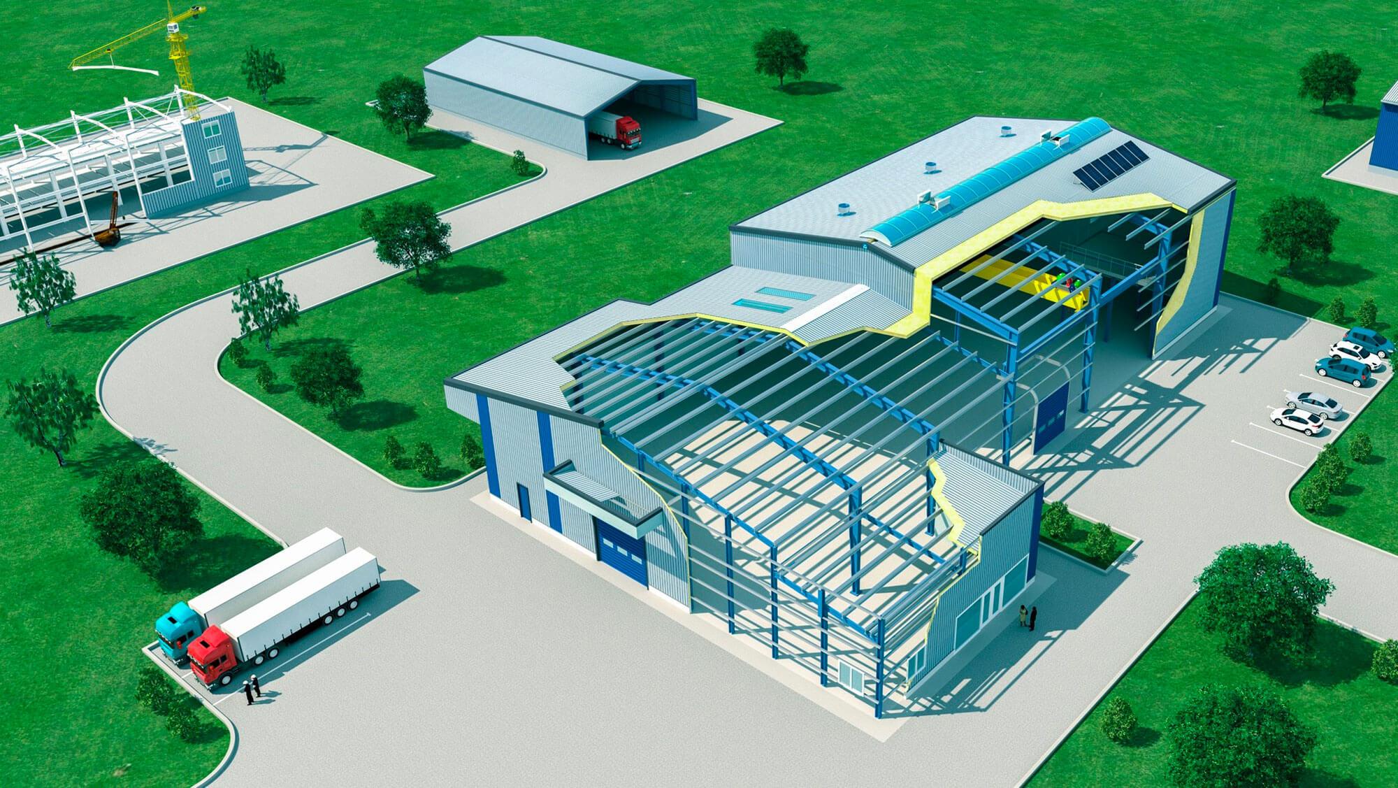 Das Astron-Verfahren ist ein schlüsselfertiges Konzept für maßgeschneiderte, schlüsselfertige Gebäude.