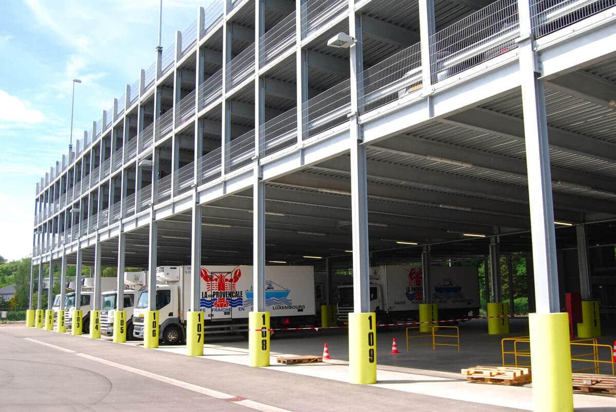 Ihr Parkhaus wird genau für Ihren Fuhrpark mit Transportern und Nutzfahrzeugen ausgelegt